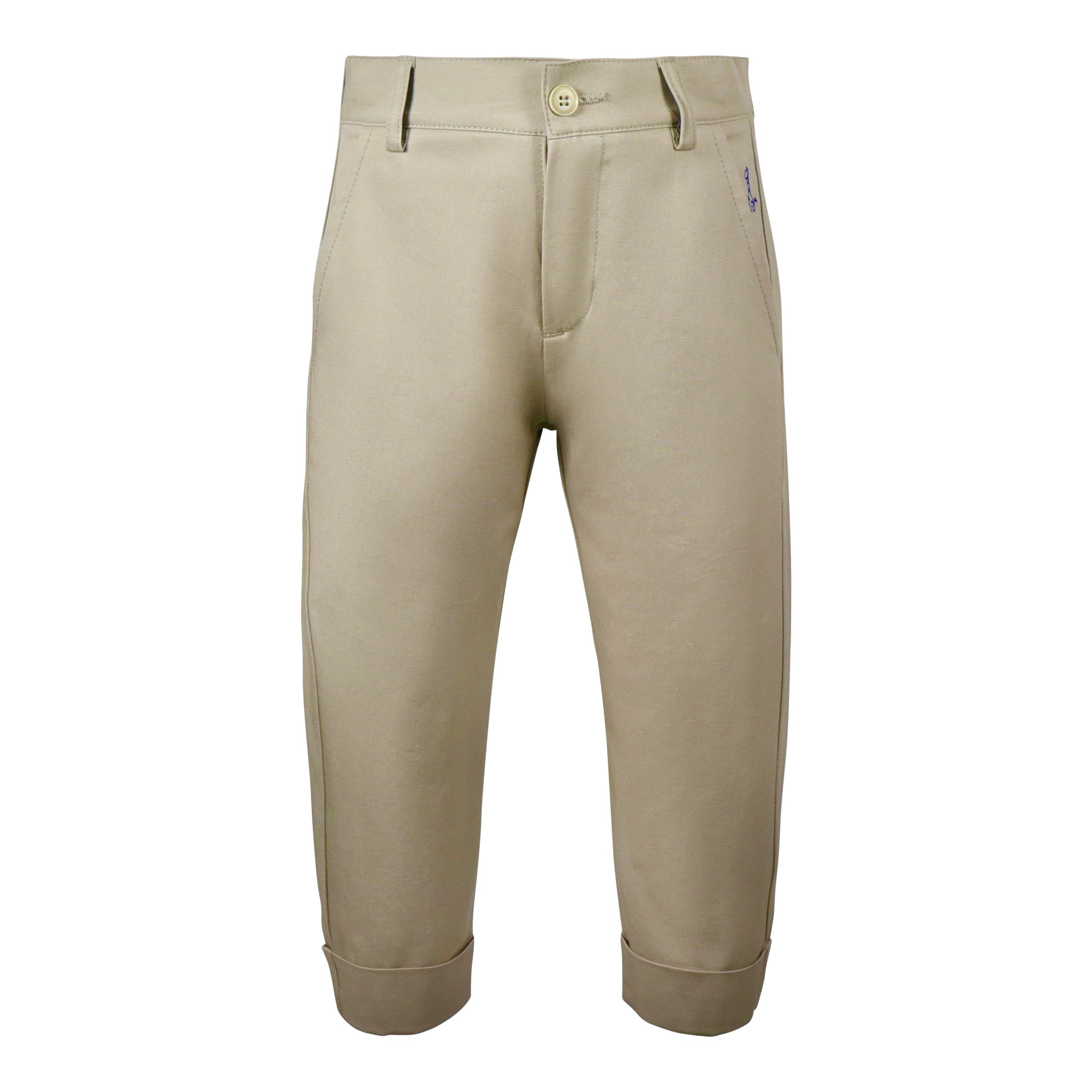 trousers in fresh dove gray cotton