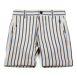 shorts with contrasting stripes