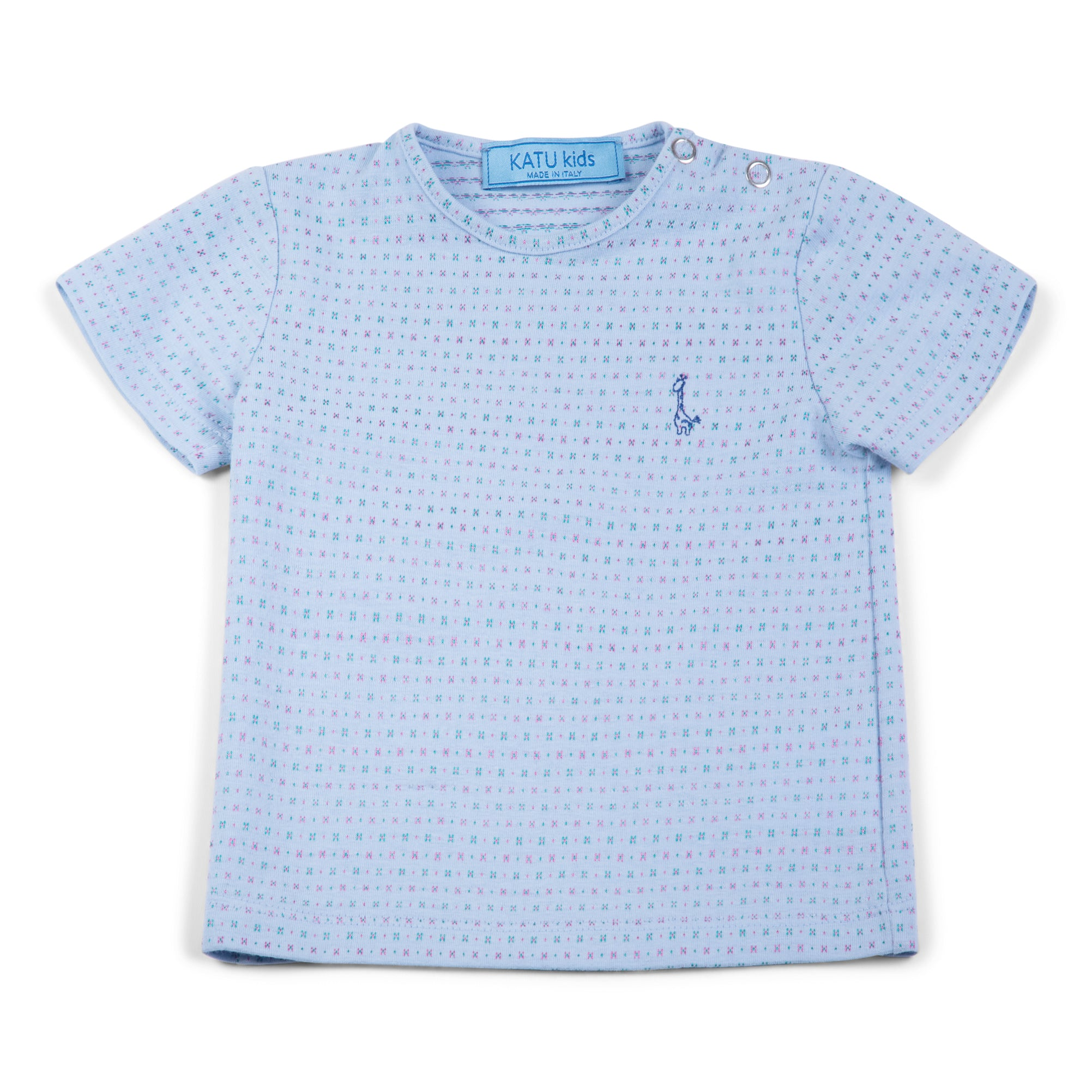 t-shirt in jacquard cotton jersey