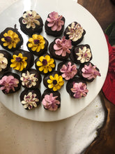 Load image into Gallery viewer, 12 Petit Fours- Vanilla cake dipped in homemade chocolate