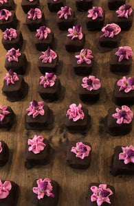 12 Petit Fours- Vanilla cake dipped in homemade chocolate