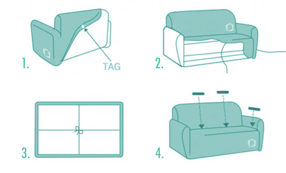 SofaPrint How to install sofa slipcover