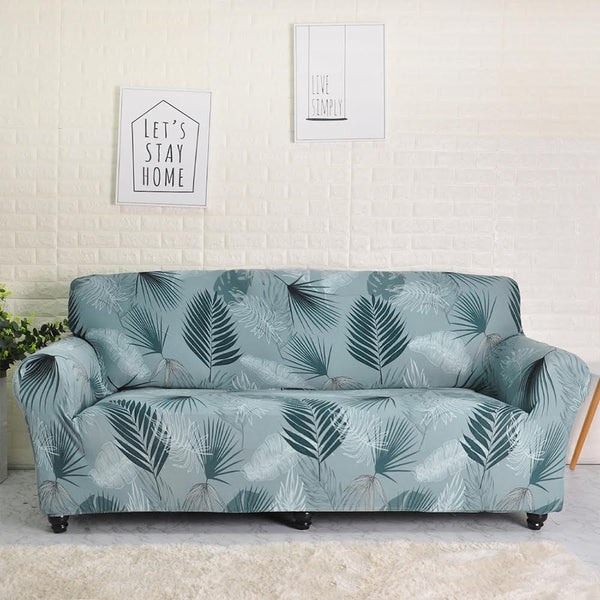 Chaim Blue Green Sofa Cover - SofaPrint™