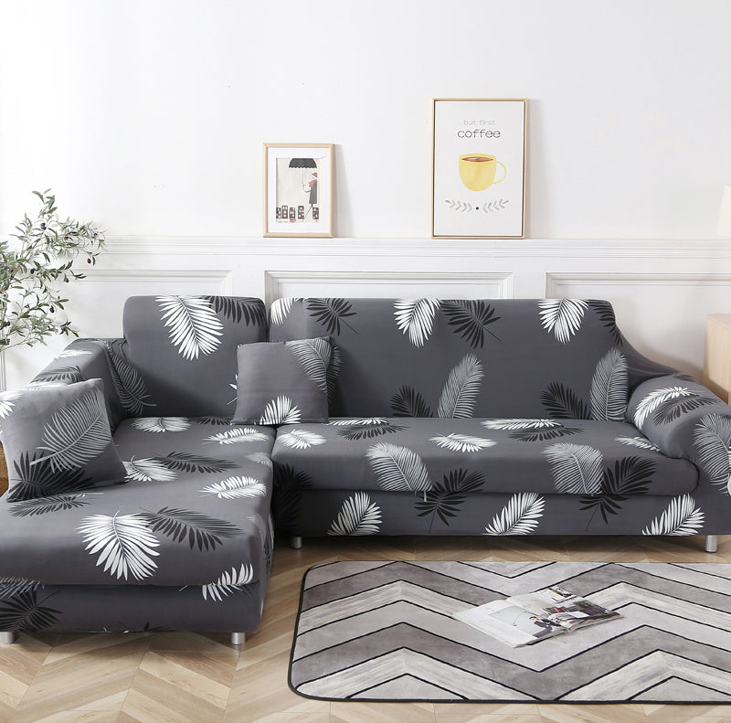 Aled Gray Feather Sofa Cover - SofaPrint™