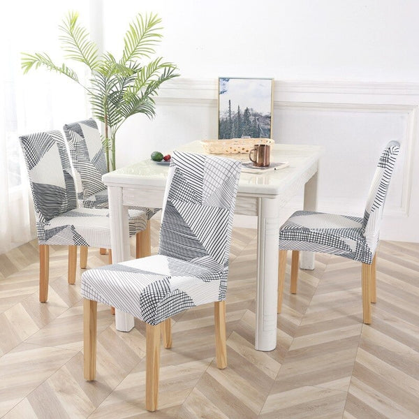Kacy Geometric Lines Chair Cover