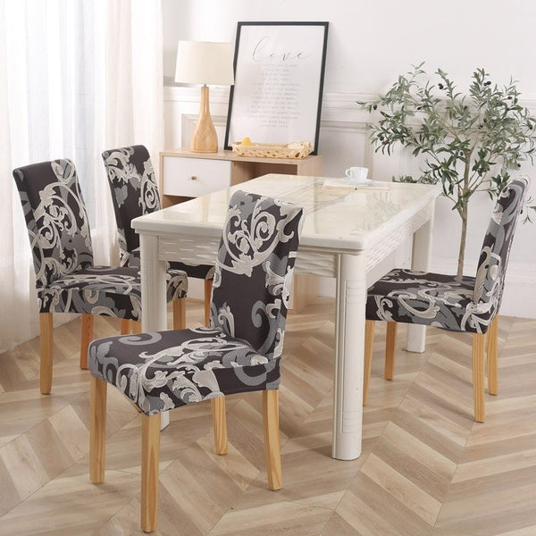 Alec Abstract Floral Chair Cover