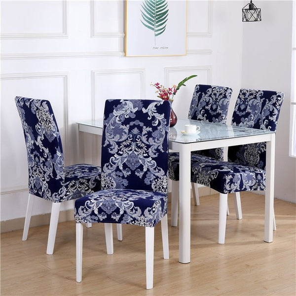 Joyce Wilkes Abstract Blue Chair Cover