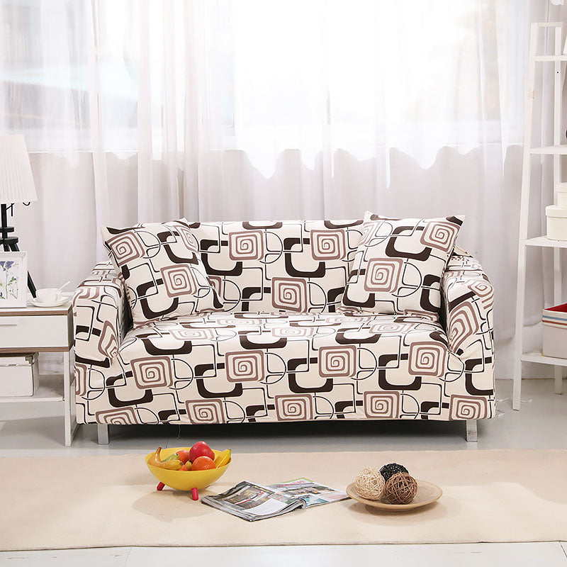 Harper Beige Pattern Sofa Cover - SofaPrint™