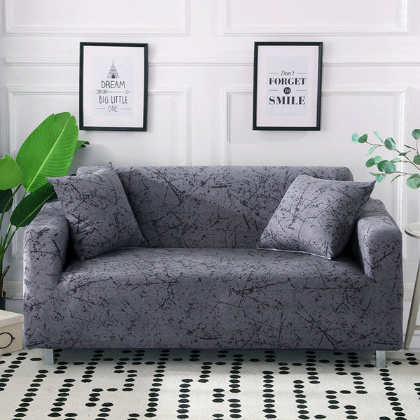 Ingrid Gray Sofa Cover - SofaPrint™