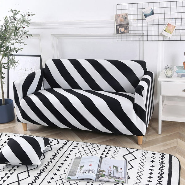 Zebra Stripe Sofa Cover - SofaPrint™