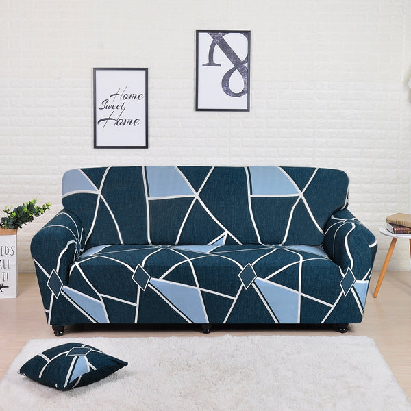 Kaiden Blue Sofa Cover