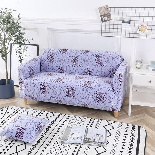 Belinda Light Purple Sofa Cover - SofaPrint™