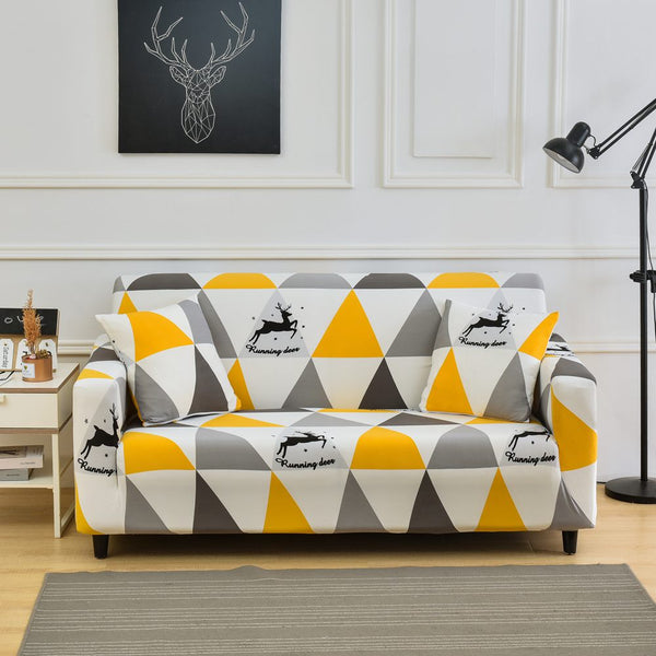 Running Deer Triangle Sofa Cover - SofaPrint™