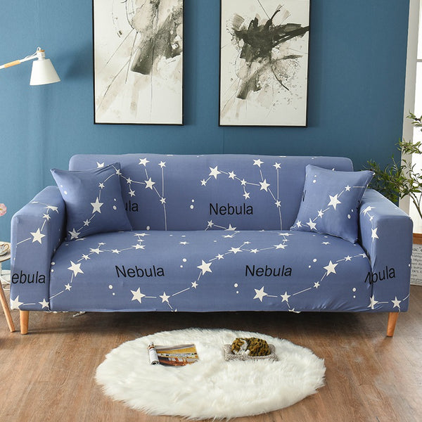 Nebula Star Gaze Blue Sofa Cover - SofaPrint™