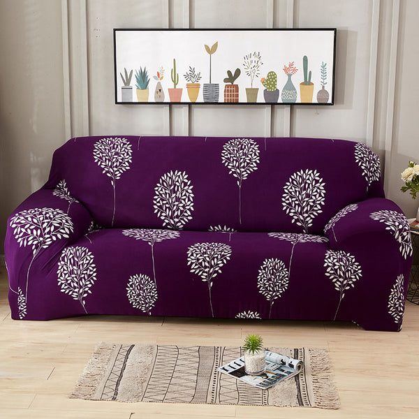 Brenna Purple Sofa Cover - SofaPrint™