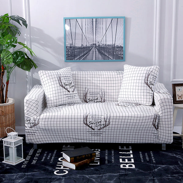Secret Love Square Sofa Cover - SofaPrint™