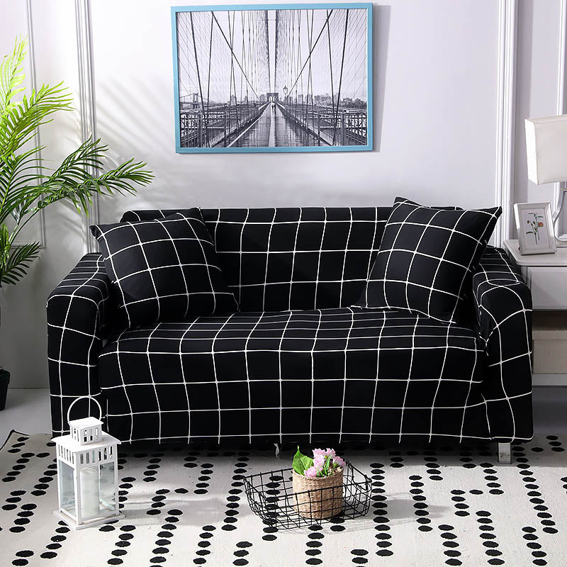 Black Squares Sofa Cover - SofaPrint™