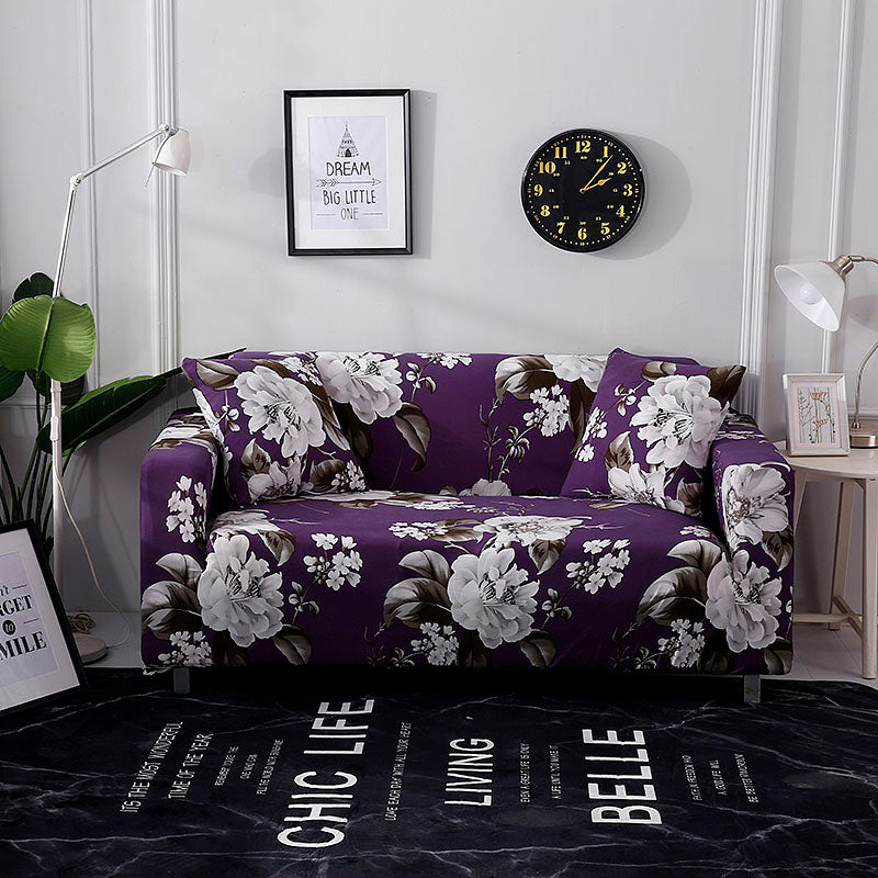 Dana Ellison Flower Purple Sofa Cover - SofaPrint™
