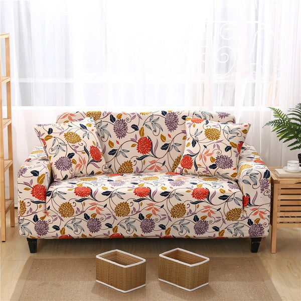 Alton Flower Sofa Cover - SofaPrint™