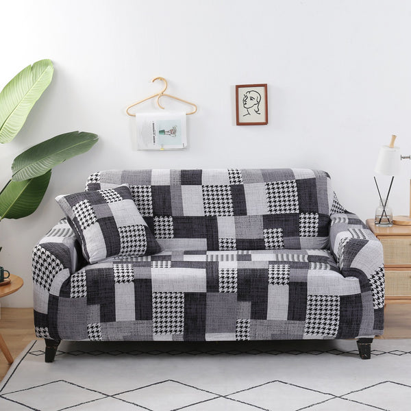 Portia Checkered Sofa Cover