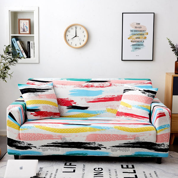 Escobar Multicolor Sofa Cover - SofaPrint™
