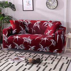 Malachy Red Sofa Cover - SofaPrint™