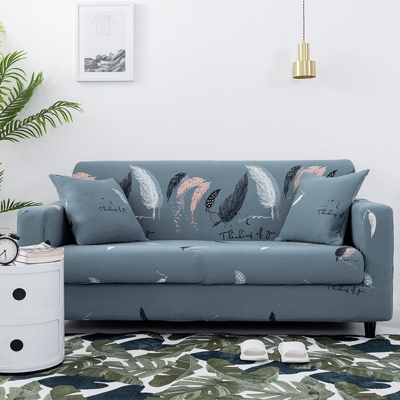 Eiliyah Estes Feather Sofa Cover - SofaPrint™