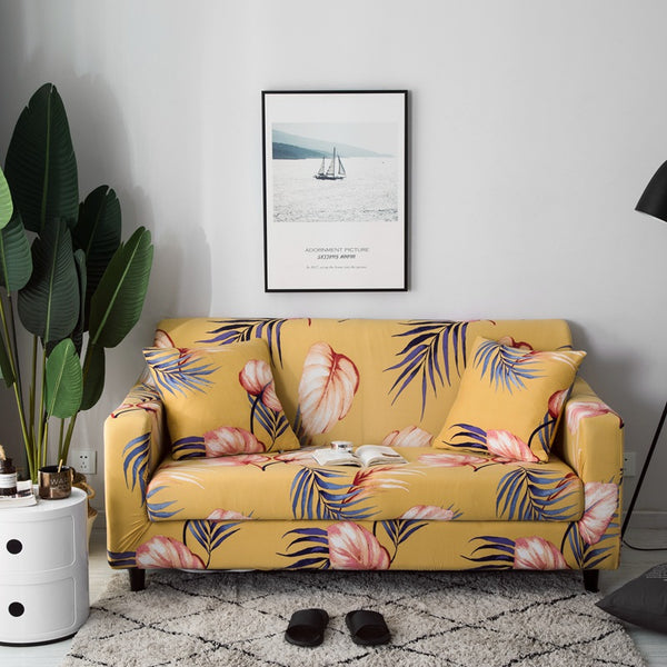 Alina Stanley Yellow Sofa Cover - SofaPrint™