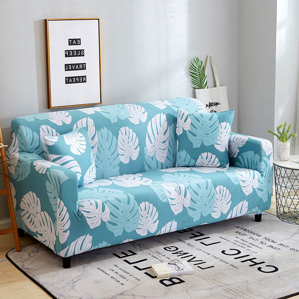 Ayse Pratt Light Blue Sofa Cover - SofaPrint™
