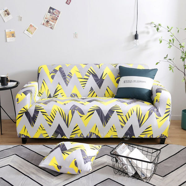 Dolores Zig Zag Stripe Sofa Cover - SofaPrint™