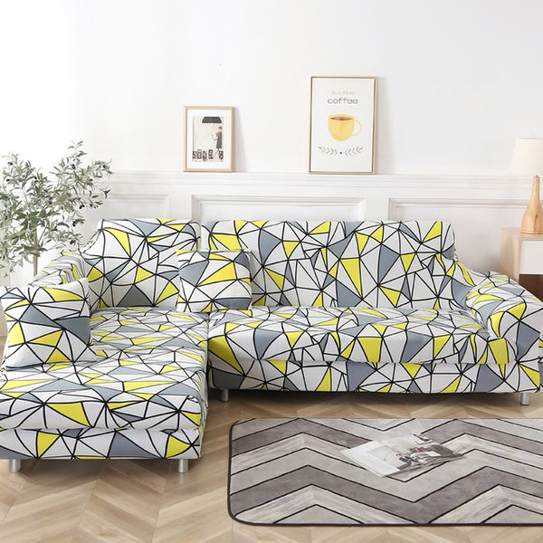 Sherry Geometric Sofa Cover - SofaPrint™