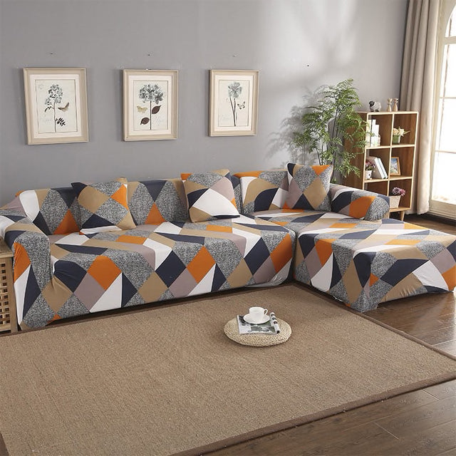 Vinnie Geometric Sofa Cover - SofaPrint™