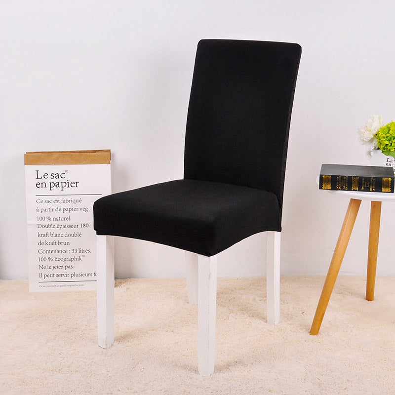 Solid Black Chair Cover - SofaPrint™