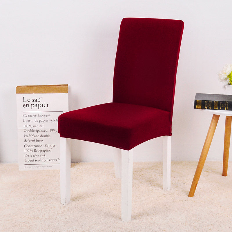 Solid Dark Red Chair Cover - SofaPrint™