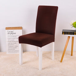 Solid Dark Brown Chair Cover - SofaPrint™