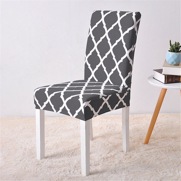 Alana Black Pattern Chair Cover - SofaPrint™