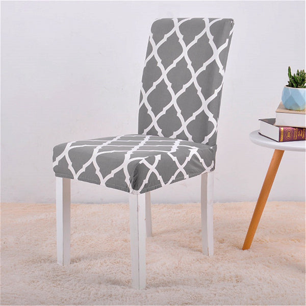 Alana Gray Pattern Chair Cover - SofaPrint™
