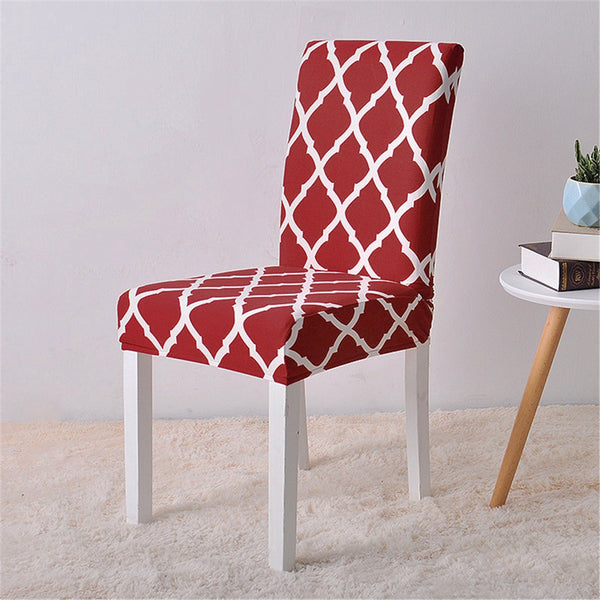 Alana Red Pattern Chair Cover - SofaPrint™