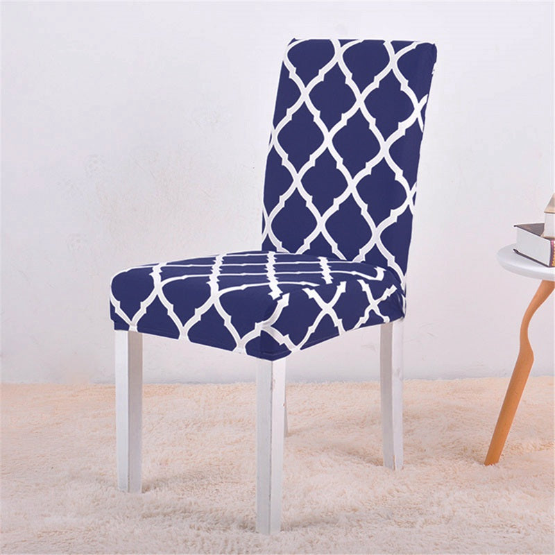 Alana Blue Pattern Chair Cover - SofaPrint™