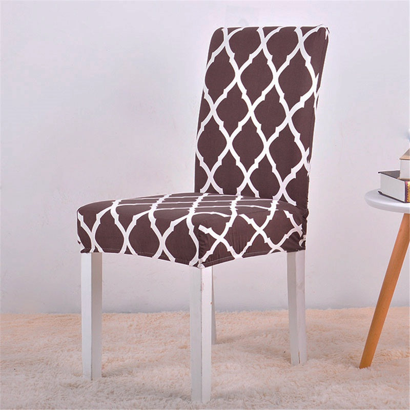 Alana Brown Pattern Chair Cover - SofaPrint™