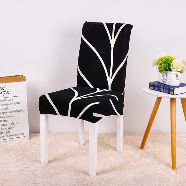 Tiya Black Chair Cover - SofaPrint™