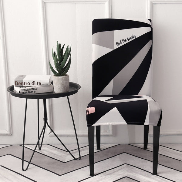 Loui Geometric Chair Cover - SofaPrint™