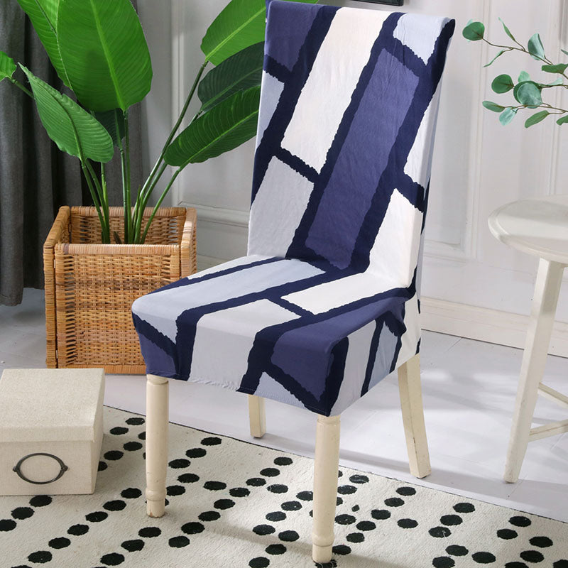 Lily-Ann Blue Chair Cover - SofaPrint™