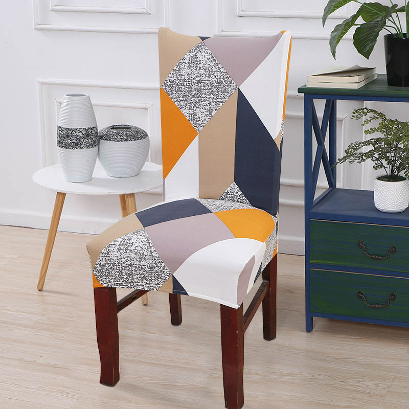Vinnie Geometric Chair Cover - SofaPrint™
