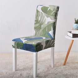 Catrina Green Leaf Chair Cover - SofaPrint™