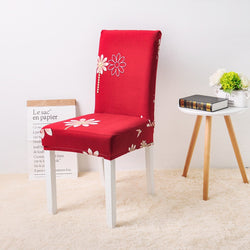Kamal Flower Red Chair Cover - SofaPrint™