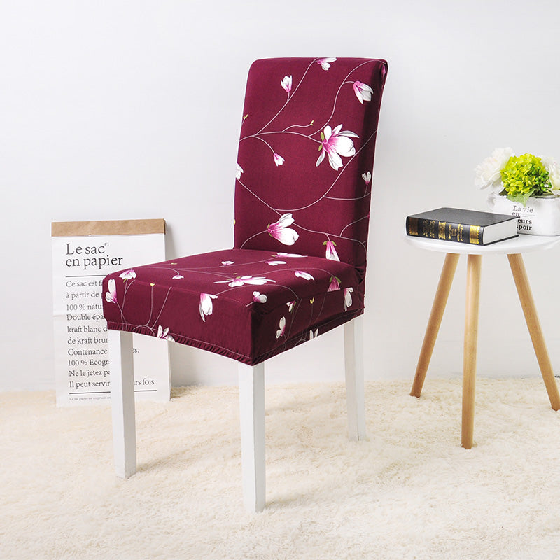 Jose Flower Red Chair Cover - SofaPrint™