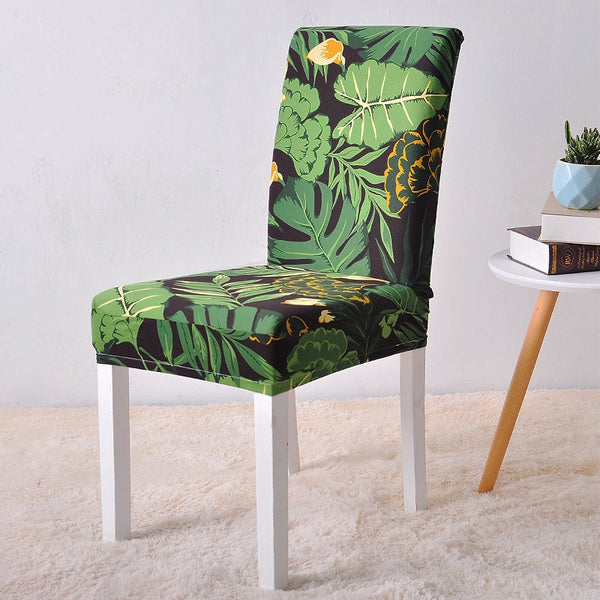 Arian Green Leaf Chair Cover - SofaPrint™