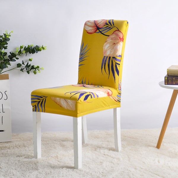 Alina Stanley Yellow Chair Cover - SofaPrint™