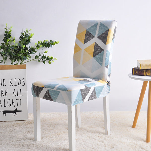 Darlene Geometric Chair Cover - SofaPrint™